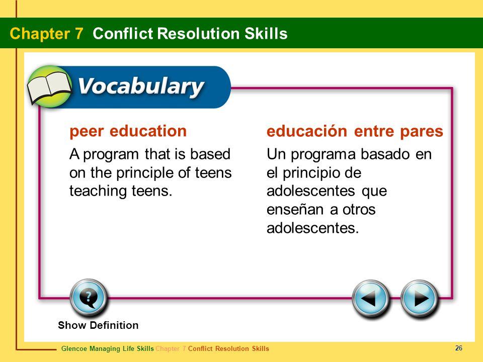 peer education educación entre pares