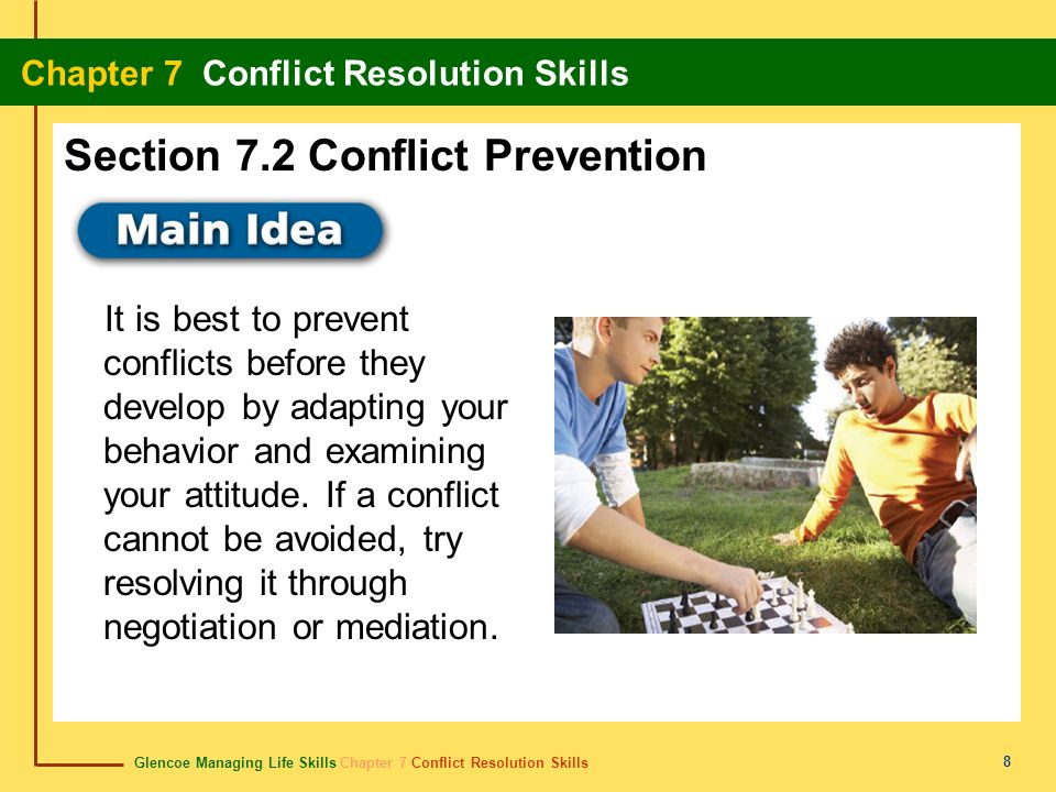 Section 7.2 Conflict Prevention