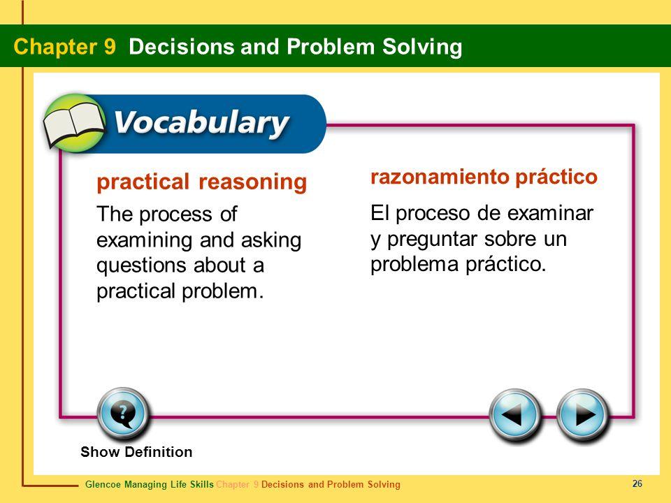 practical reasoning razonamiento práctico