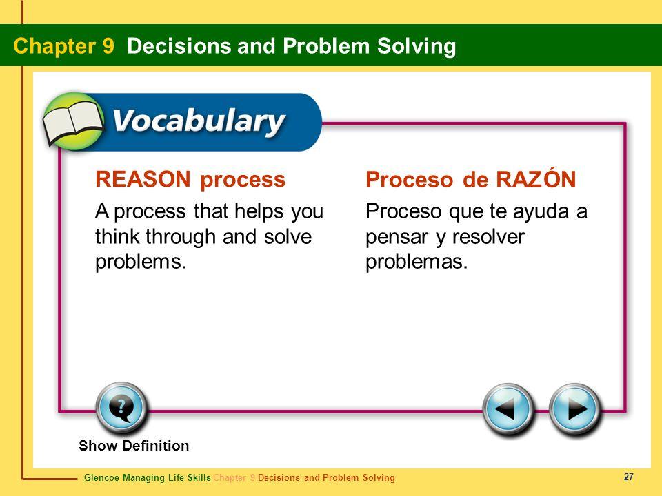 REASON process Proceso de RAZÓN