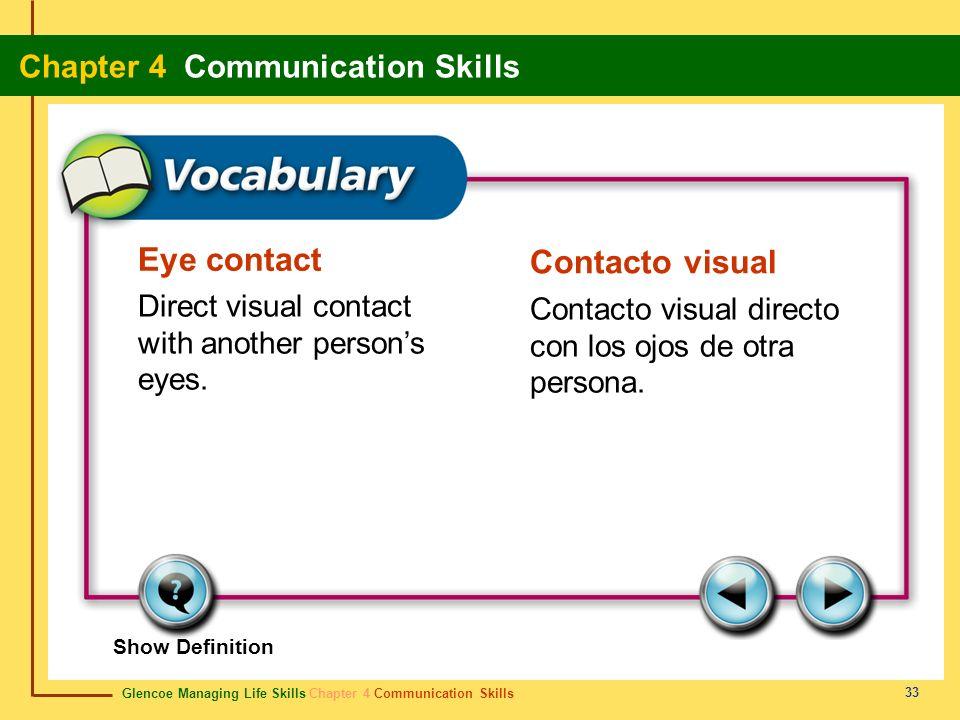 Eye contact Contacto visual