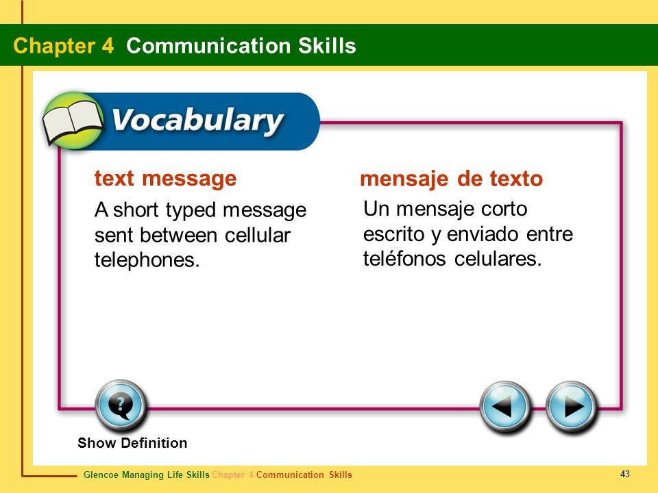 text message A short typed message sent between cellular telephones.