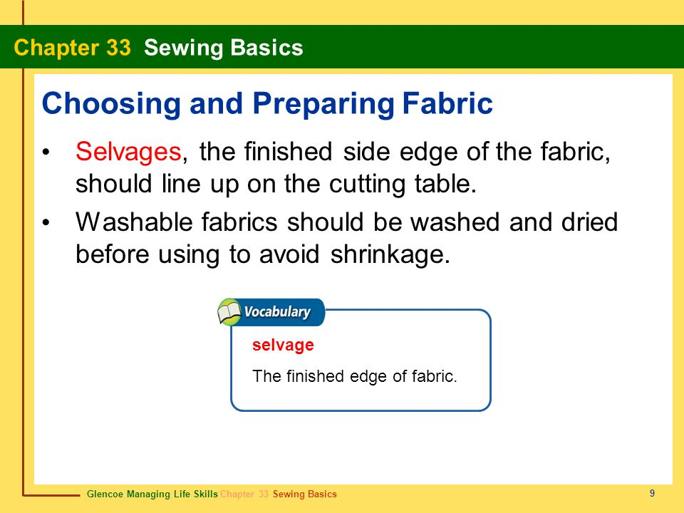 Choosing and Preparing Fabric