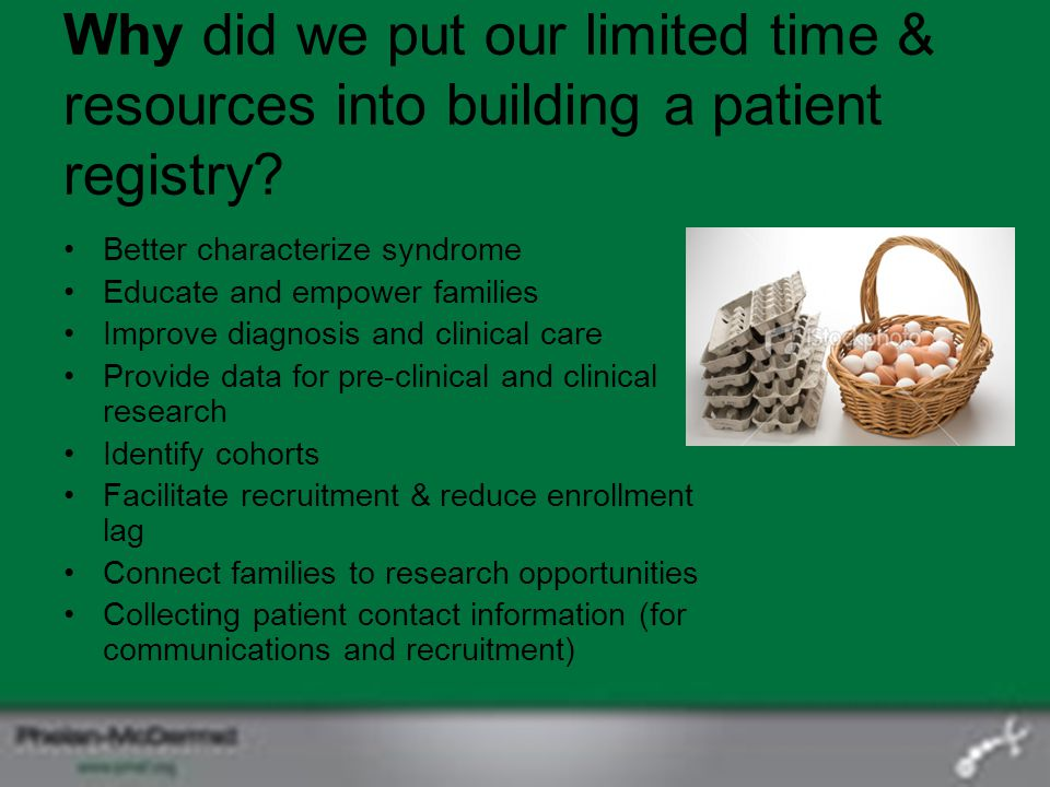 Why did we put our limited time & resources into building a patient registry