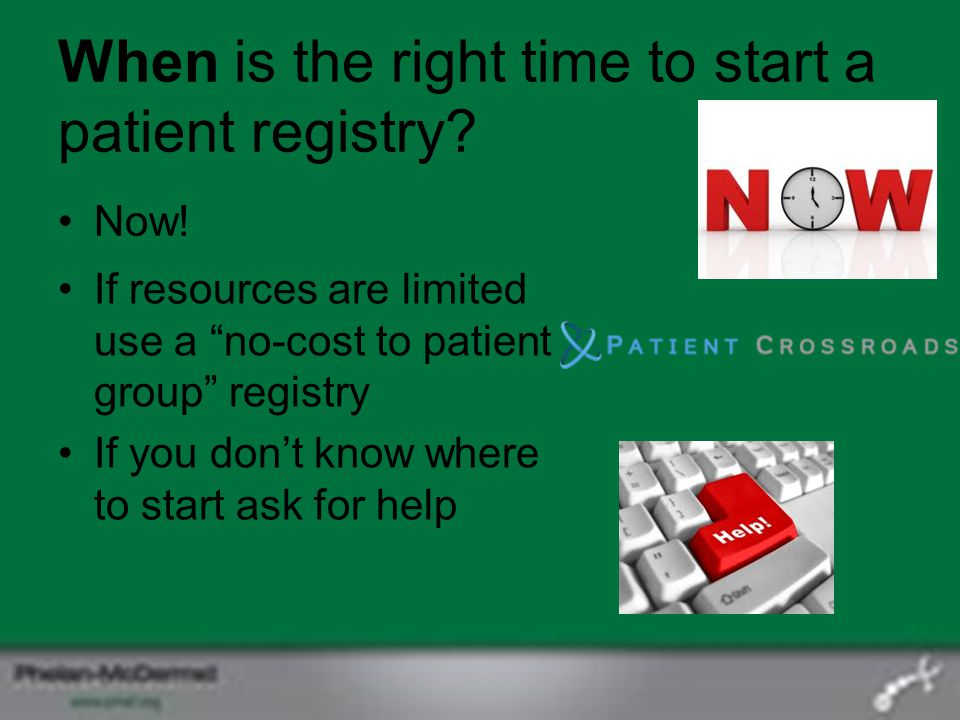 When is the right time to start a patient registry