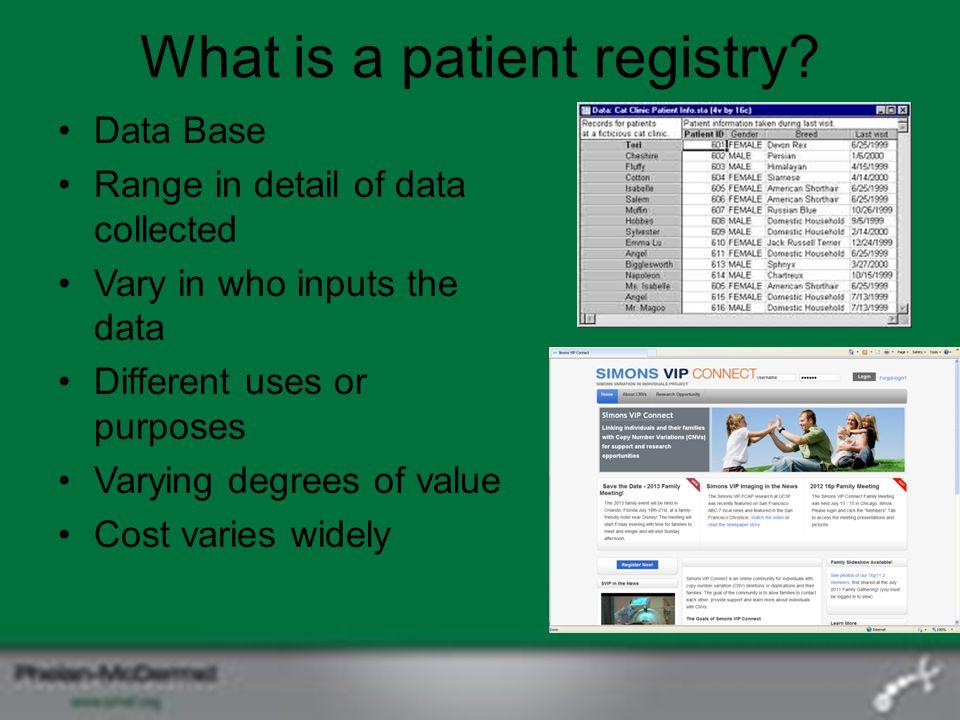 What is a patient registry