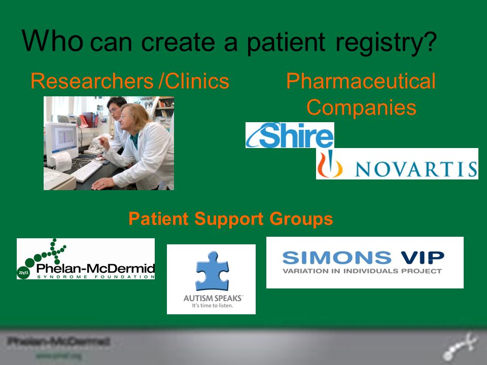 Who can create a patient registry