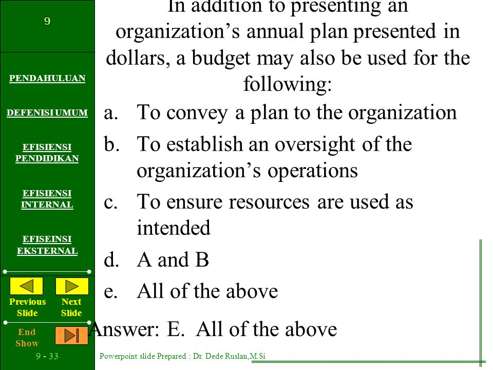 In addition to presenting an organization's annual plan presented in dollars, a budget may also be used for the following:
