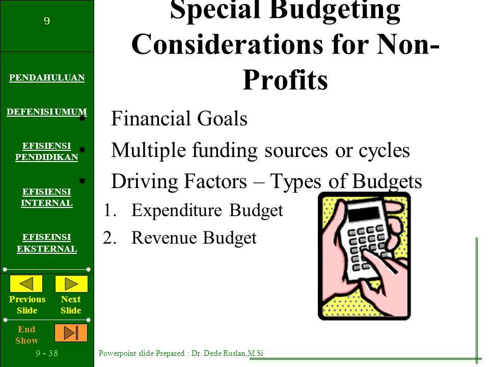 Special Budgeting Considerations for Non-Profits