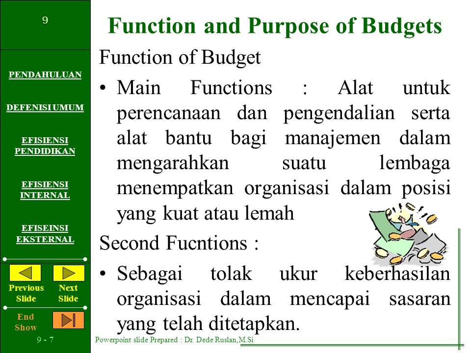 Function and Purpose of Budgets