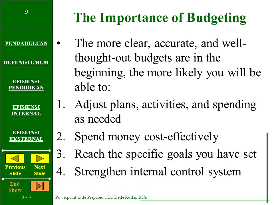 The Importance of Budgeting