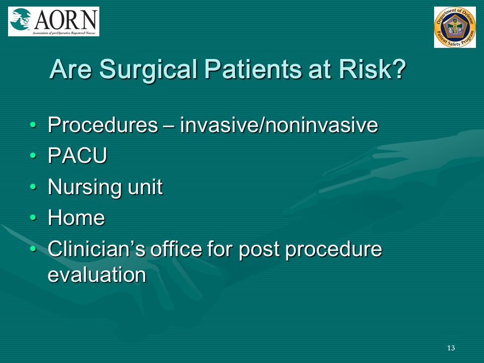 Are Surgical Patients at Risk