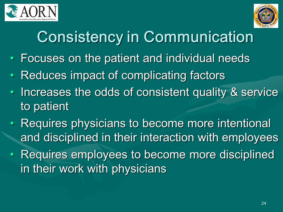 Consistency in Communication