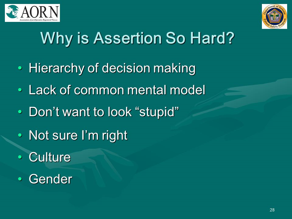 Why is Assertion So Hard