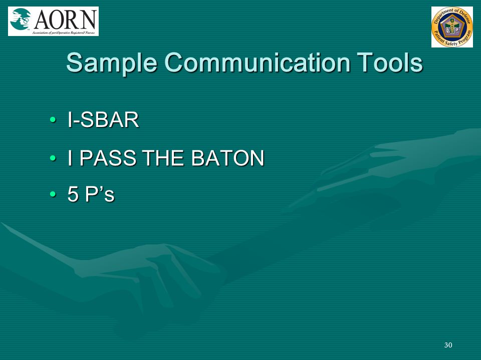 Sample Communication Tools