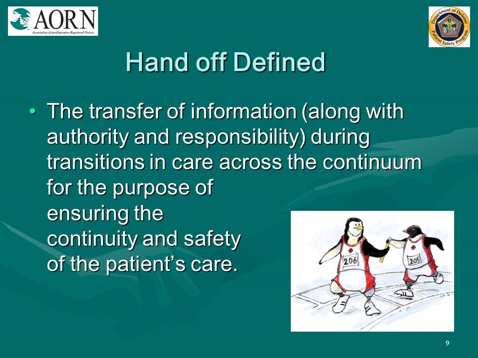Hand off Defined
