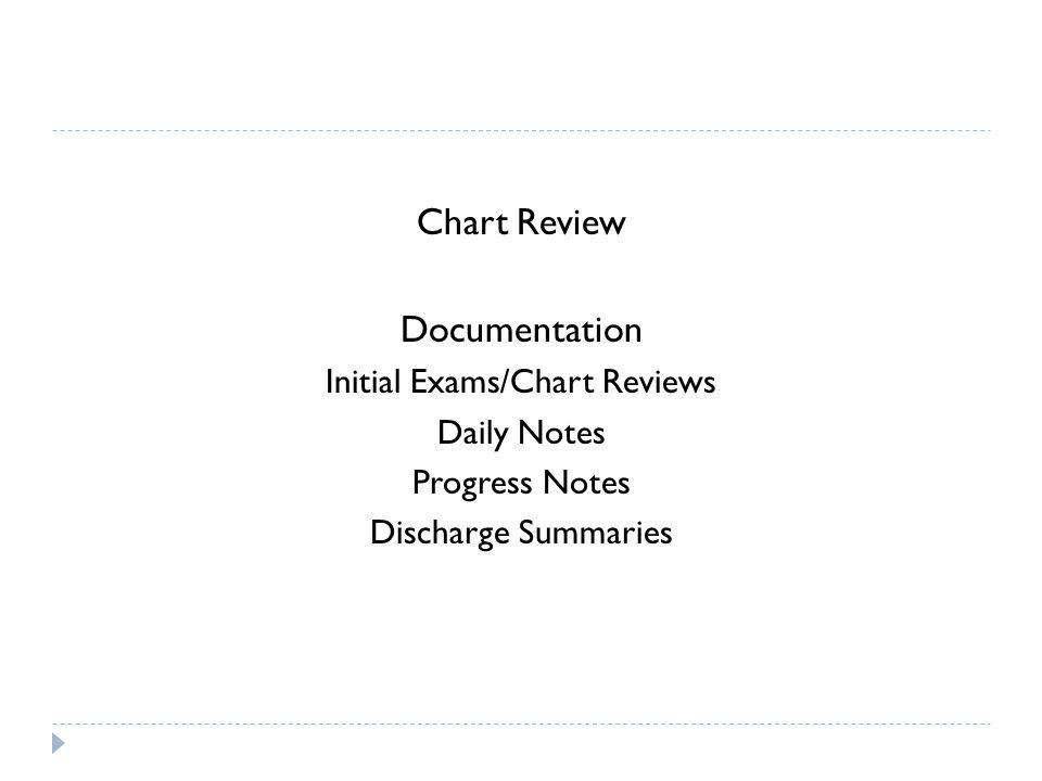 Initial Exams/Chart Reviews