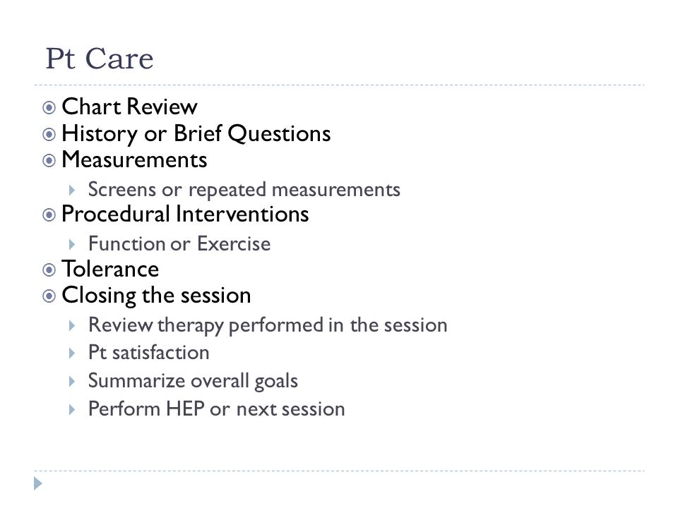 Pt Care Chart Review History or Brief Questions Measurements