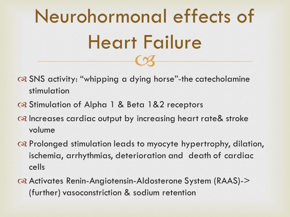 Neurohormonal effects of Heart Failure