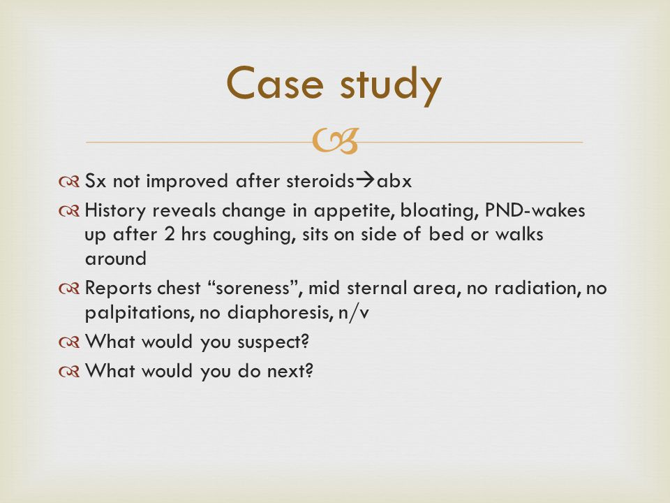 Case study Sx not improved after steroidsabx