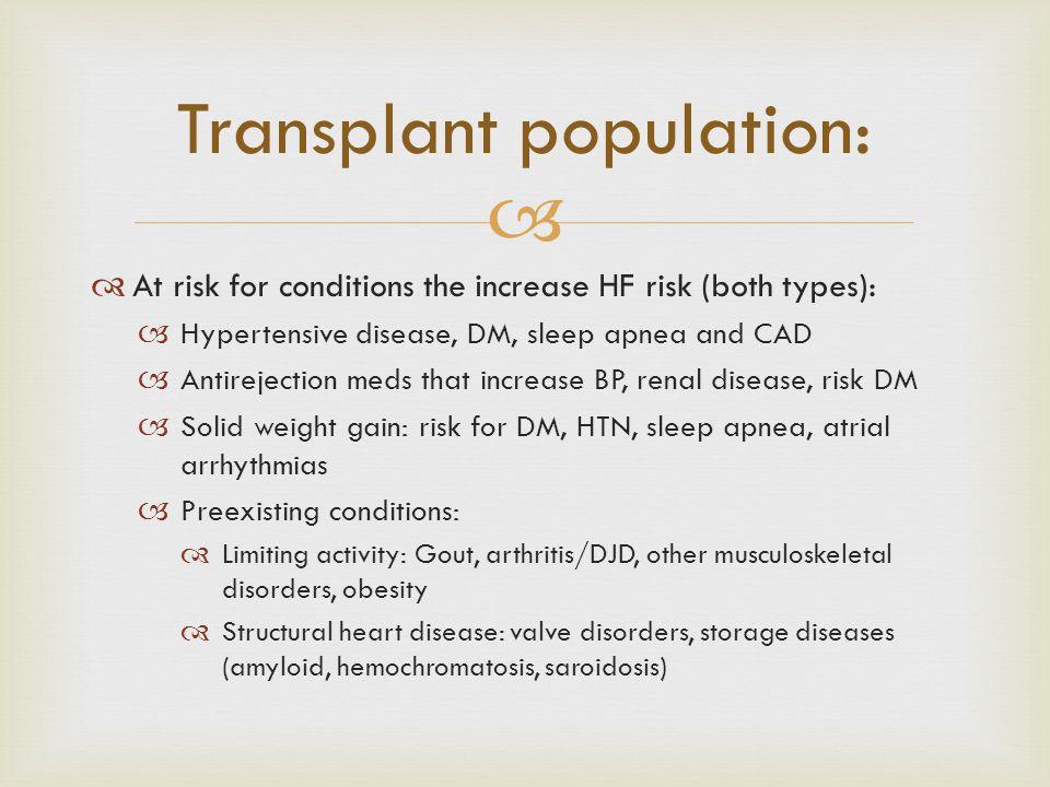 Transplant population: