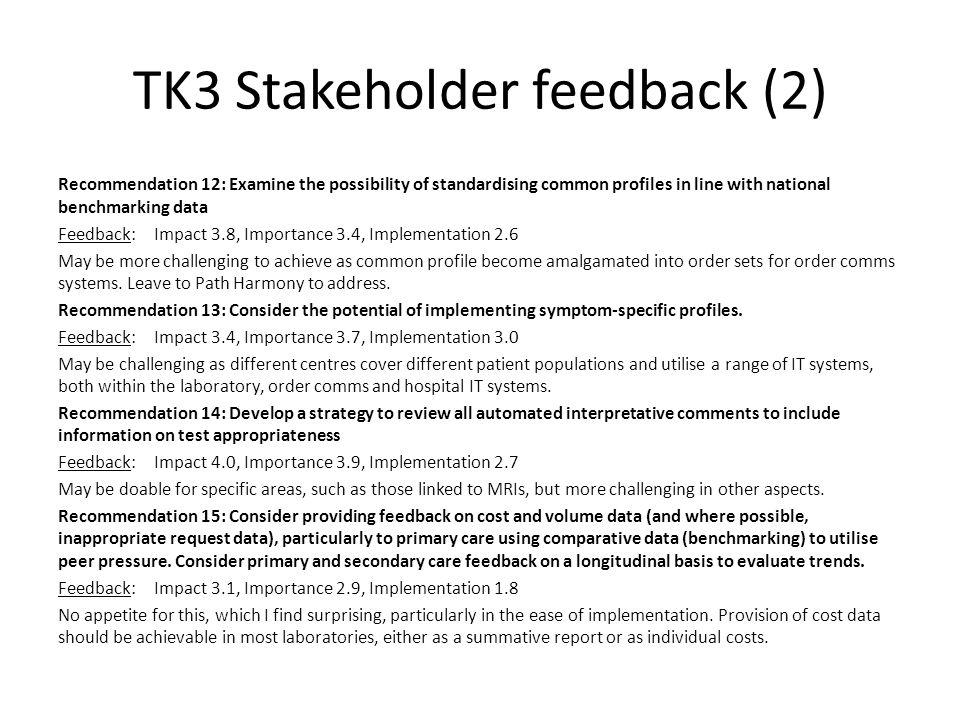 TK3 Stakeholder feedback (2)