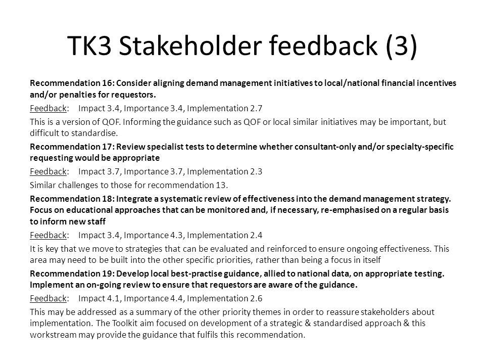 TK3 Stakeholder feedback (3)
