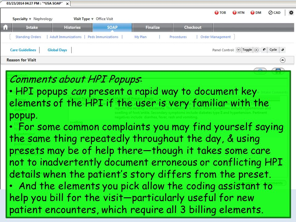 Comments about HPI Popups:
