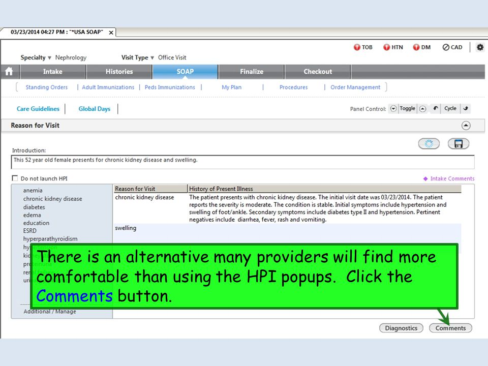 There is an alternative many providers will find more comfortable than using the HPI popups.