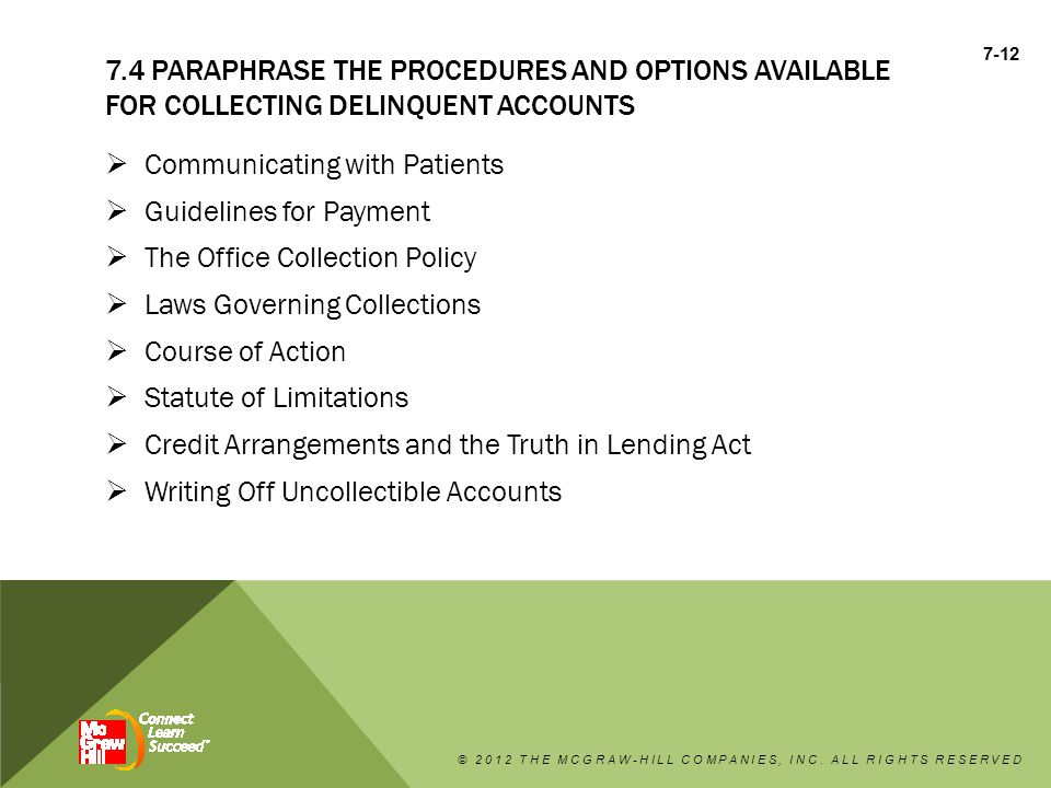 Communicating with Patients Guidelines for Payment