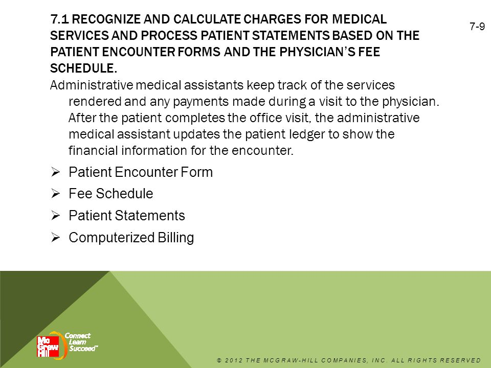 Patient Encounter Form Fee Schedule Patient Statements
