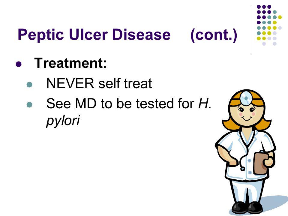 Peptic Ulcer Disease (cont.)