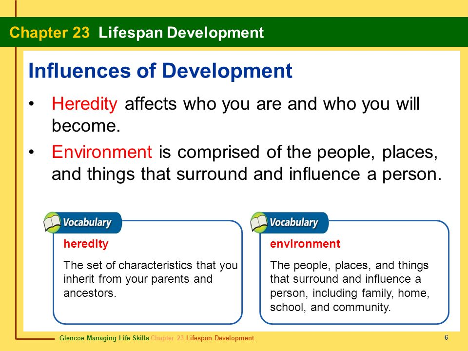 Influences of Development
