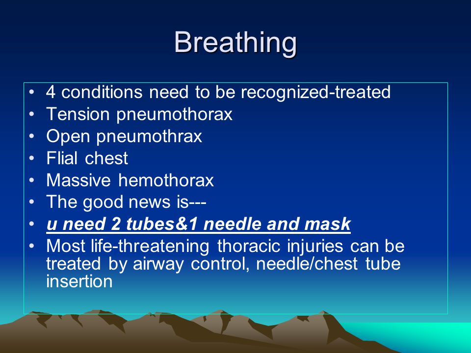 Breathing 4 conditions need to be recognized-treated