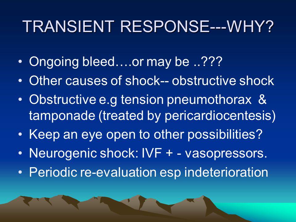 TRANSIENT RESPONSE---WHY