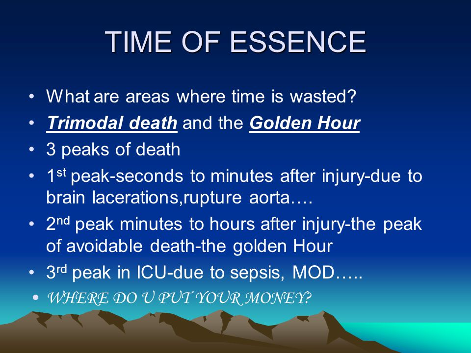 TIME OF ESSENCE What are areas where time is wasted