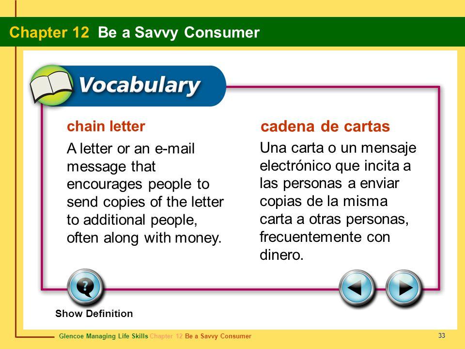 cadena de cartas chain letter