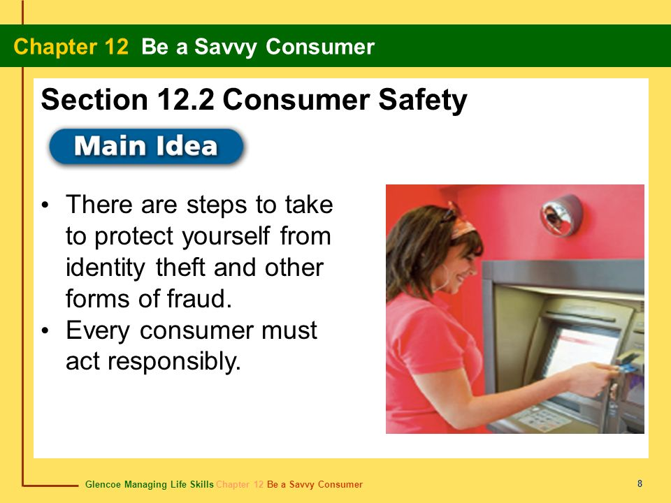 Section 12.2 Consumer Safety