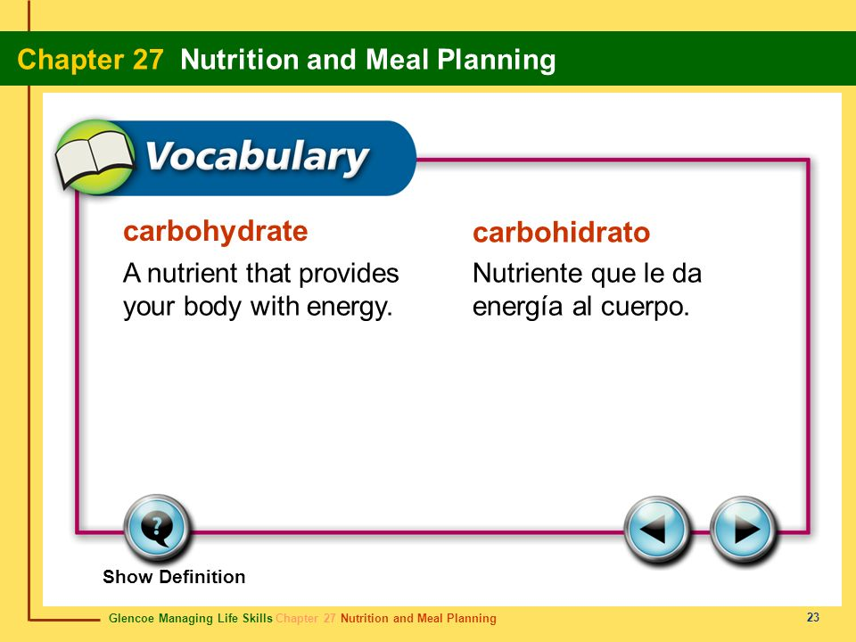 carbohydrate carbohidrato