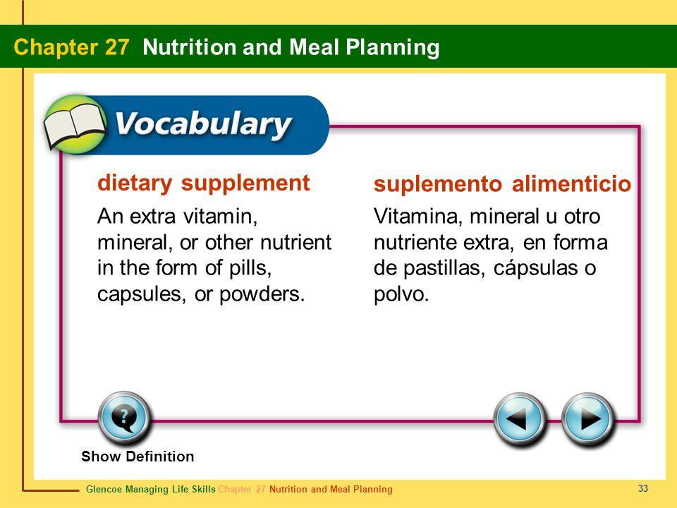 suplemento alimenticio