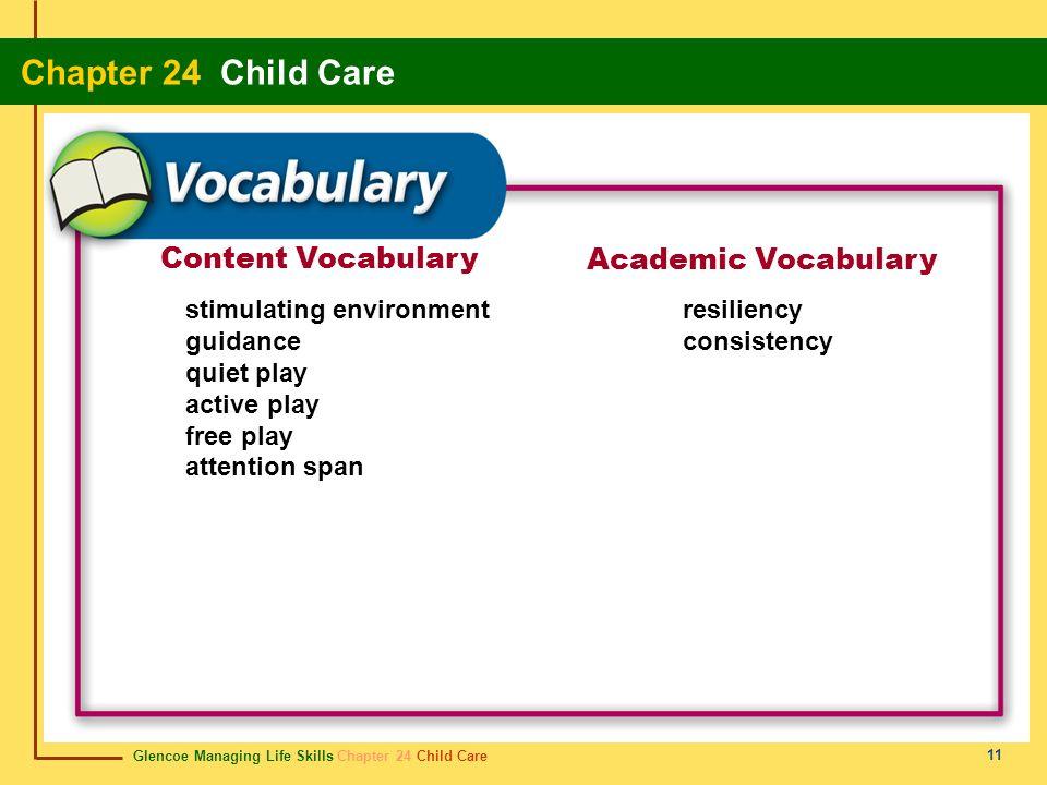 Content Vocabulary Academic Vocabulary stimulating environment