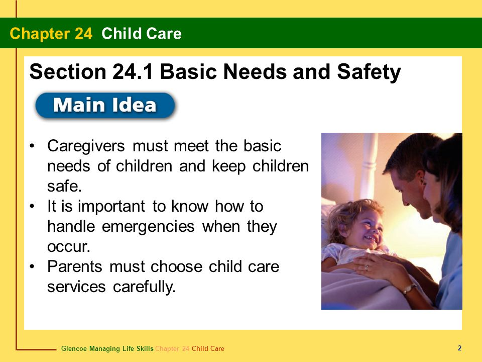 Section 24.1 Basic Needs and Safety