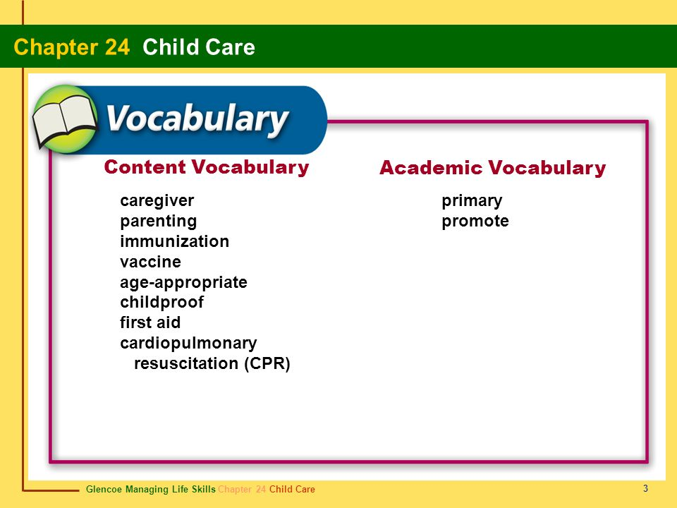 Content Vocabulary Academic Vocabulary caregiver parenting