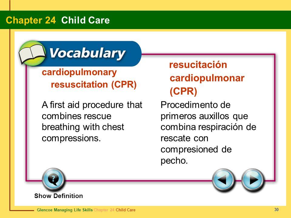 resucitación cardiopulmonar (CPR)