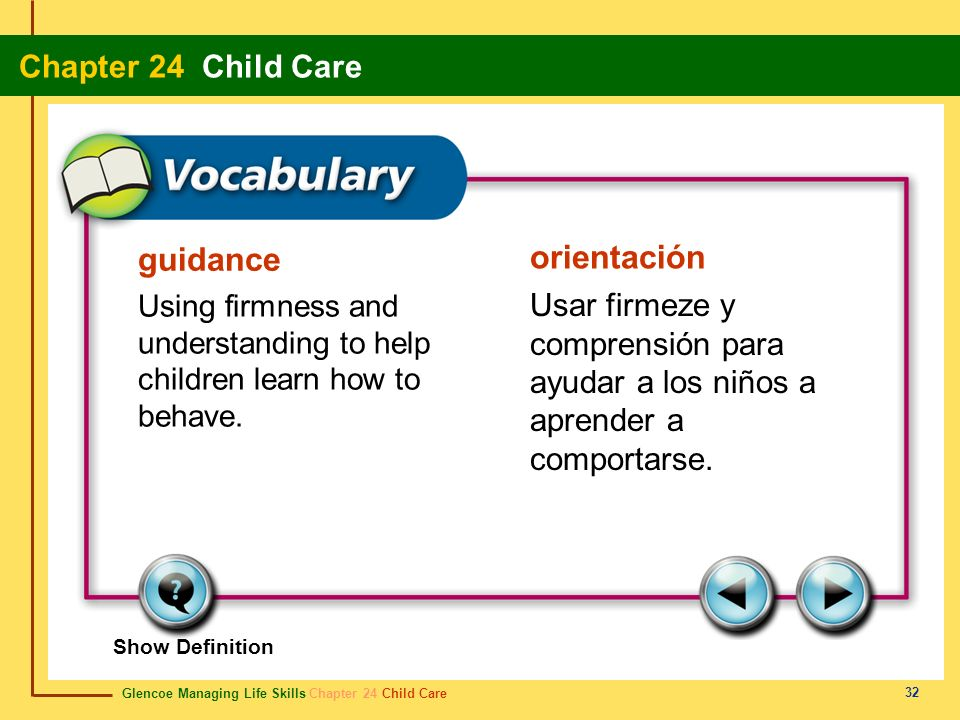 guidance orientación. Using firmness and understanding to help children learn how to behave.