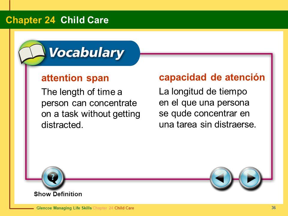 attention span capacidad de atención