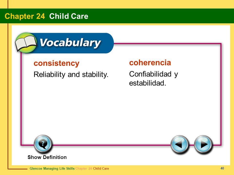 consistency coherencia Reliability and stability.