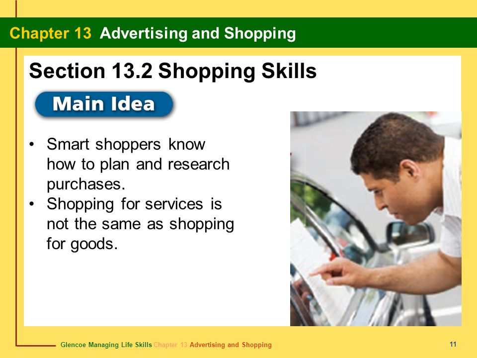 Section 13.2 Shopping Skills
