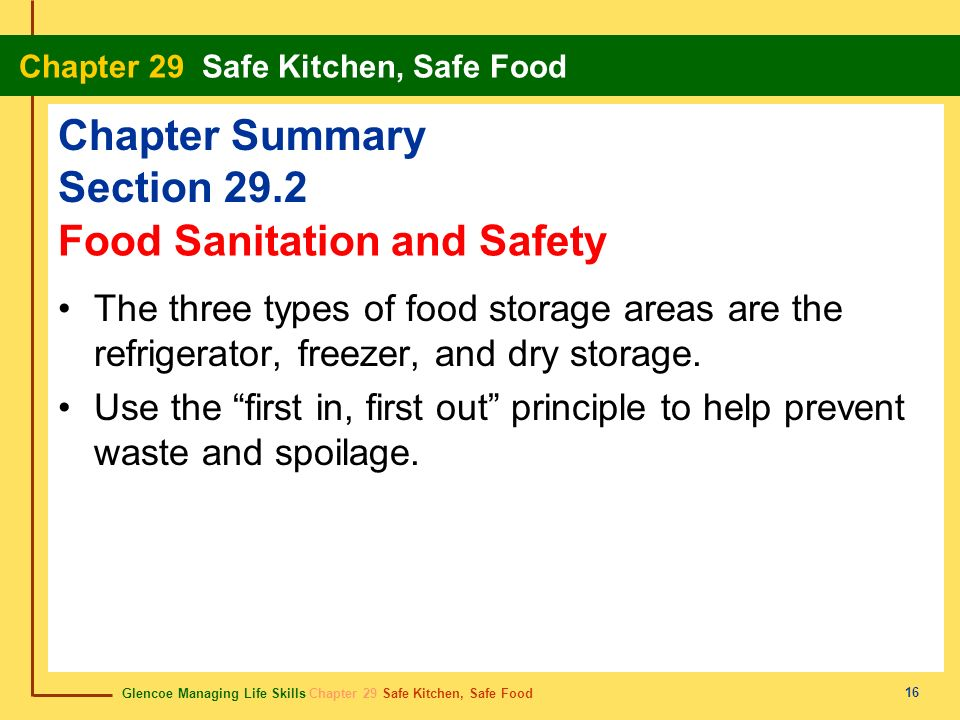 Sanitation in Food Processing