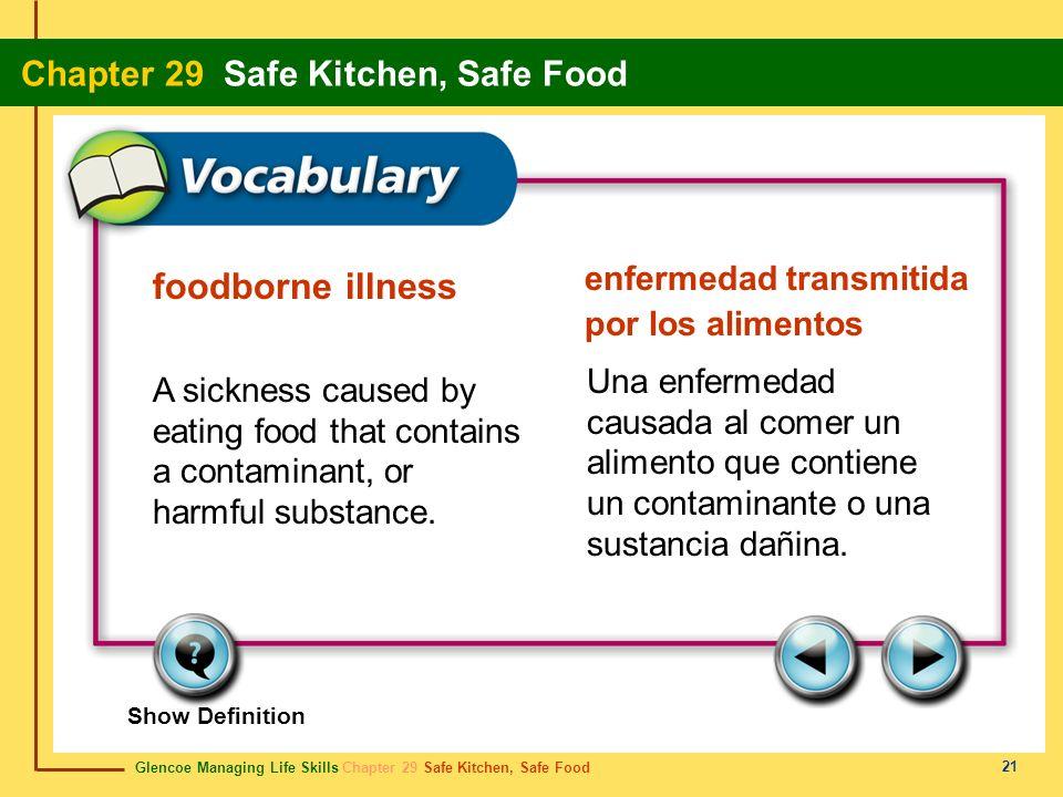 enfermedad transmitida por los alimentos foodborne illness